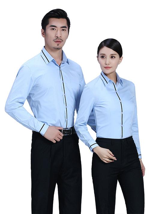 涤棉高级职业衬衫定做