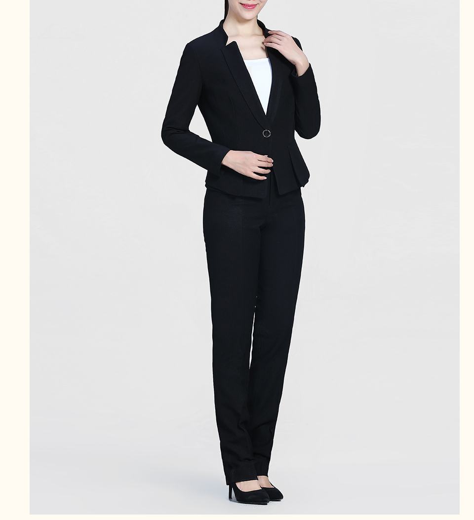 黑色修身时尚职业装FX07