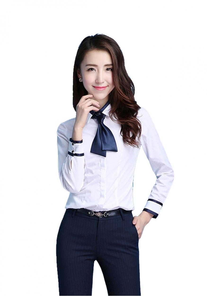 新款白色女士职业衬衫